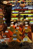 Τουρκικό κατάστημα καρυκευμάτων απόλαυσης στην Κωνσταντινούπολη Στοκ φωτογραφίες με δικαίωμα ελεύθερης χρήσης