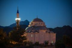 Τουρκικό μουσουλμανικό τέμενος τη νύχτα Στοκ Εικόνα