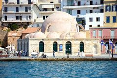 Τουρκικό μουσουλμανικό τέμενος, Chania Στοκ Φωτογραφία