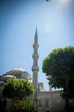 Τουρκικό μπλε μουσουλμανικό τέμενος στη Ιστανμπούλ Στοκ Φωτογραφίες