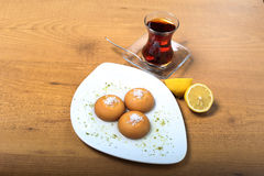 Τουρκικό παραδοσιακό επιδόρπιο Kemalpasha Στοκ εικόνες με δικαίωμα ελεύθερης χρήσης