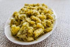 Τουρκικό πιάτο σαλάτας Potatoe Στοκ εικόνα με δικαίωμα ελεύθερης χρήσης