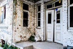 Τουρκικό σπίτι δύο ιστορίας Desolated παλαιό Στοκ Φωτογραφίες