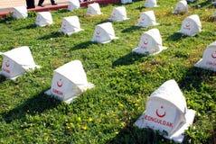 Τουρκικό στρατιωτικό νεκροταφείο Στοκ Φωτογραφία