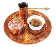 Τουρκικό σύνολο καφέ που απομονώνεται στο λευκό Στοκ φωτογραφίες με δικαίωμα ελεύθερης χρήσης