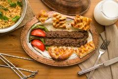 Τουρκικό adana kebab Στοκ Εικόνες