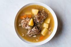 Τουρκικό Kuzu Haslama/Stew αρνιών με τις πατάτες και το καρότο Στοκ φωτογραφία με δικαίωμα ελεύθερης χρήσης