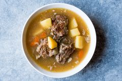 Τουρκικό Kuzu Haslama/Stew αρνιών με τις πατάτες και το καρότο Στοκ Φωτογραφία