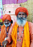 Τουρμπάνι που φορά το sadhus στο mela 2016, Ujjain Ινδία της Maha simhasth kumbh Στοκ φωτογραφία με δικαίωμα ελεύθερης χρήσης