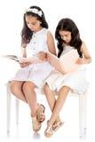 Τους φίλους που διαβάζονται τα βιβλία Στοκ Εικόνες