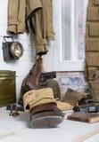 Τουφέκι και U S στρατιωτικός εξοπλισμός του Δεύτερου Παγκόσμιου Πολέμου στοκ φωτογραφία