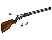 τουφέκι Winchester πυροβόλων όπλω&n διανυσματική απεικόνιση