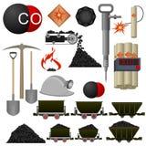 Του άνθρακα βιομηχανία αντικειμένων απεικόνιση αποθεμάτων