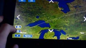 Του δέλτα αεροπλάνο, όργανο ελέγχου ταξιδιού, απόθεμα βίντεο
