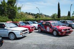 Του δέλτα αυτοκίνητα της Lancia Στοκ Εικόνες