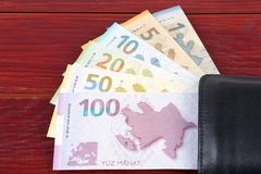 Του Αζερμπαϊτζάν manat στο μαύρο πορτοφόλι