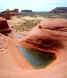 Του δέλτα λίμνη κοντά Moab, Γιούτα στοκ φωτογραφία με δικαίωμα ελεύθερης χρήσης