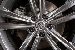 19 του Ιανουαρίου του 2018 - Vinnitsa, Ουκρανία Μαύρη τέχνη της VW του Volkswagen Στοκ Εικόνες