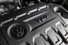 19 του Ιανουαρίου του 2018 - Vinnitsa, Ουκρανία Volkswagen Tiguan pres Στοκ Φωτογραφία