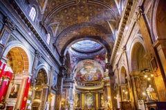 Του Ιησού Fresco Dome Ceiling Σάντα Μαρία Maddalena εκκλησία Ρώμη Ita στοκ εικόνα με δικαίωμα ελεύθερης χρήσης