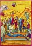 Του Ιησού Tomb Golden Icon Saint George εκκλησία Madaba Ιορδανία Στοκ Φωτογραφία