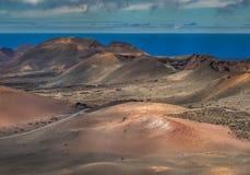 του 2011 κανάριο νησιών Lanzarote timanfaya πάρκων Ιουνίου εθνικό Στοκ εικόνες με δικαίωμα ελεύθερης χρήσης