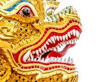 του 2012 καρτών νέο διανυσματικό έτος απεικόνισης δράκων χρυσό Στοκ Φωτογραφίες