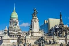 Του Κογκρέσου Plaza στο Μπουένος Άιρες, Αργεντινή Στοκ Φωτογραφία
