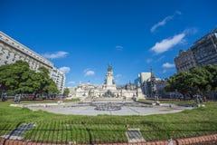 Του Κογκρέσου Plaza στο Μπουένος Άιρες, Αργεντινή Στοκ εικόνα με δικαίωμα ελεύθερης χρήσης