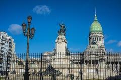 Του Κογκρέσου Plaza στο Μπουένος Άιρες, Αργεντινή Στοκ Εικόνες