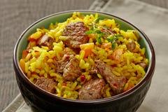 Του Ουζμπεκιστάν εθνικό πιάτο plov Στοκ Εικόνα