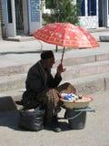 Του Ουζμπεκιστάν πωλητής Στοκ φωτογραφία με δικαίωμα ελεύθερης χρήσης