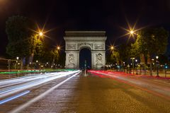 Του Παρισιού Arc de Triomphe Triumphal αψίδα q Στοκ εικόνα με δικαίωμα ελεύθερης χρήσης