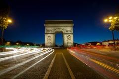 Του Παρισιού Arc de Triomphe Triumphal αψίδα q Στοκ Εικόνες