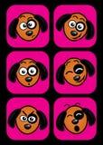 Του προσώπου εκφράσεις σκυλιών απεικόνιση αποθεμάτων