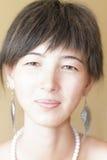 του προσώπου θηλυκό πορτρέτο Στοκ φωτογραφία με δικαίωμα ελεύθερης χρήσης