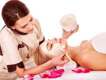 Του προσώπου μάσκα αργίλου beauty spa. Στοκ φωτογραφία με δικαίωμα ελεύθερης χρήσης