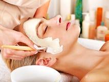 Του προσώπου μάσκα αργίλου beauty spa. Στοκ Εικόνες
