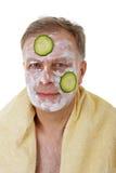 του προσώπου μάσκα ατόμων αγγουριών Στοκ Εικόνες