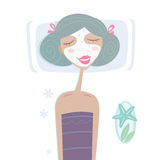 του προσώπου girl mask sea spa διανυσματική απεικόνιση
