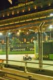 Του Σεπτεμβρίου του 2011 Mark Webber Σινγκαπούρη οδηγών του Red Bull F1 Στοκ Εικόνες