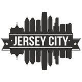Του Τζέρσεϋ πόλεων της Νέας Υόρκης Ηνωμένες Πολιτείες της Αμερικής εικονιδίων διανυσματικό τέχνης σχεδίου πρότυπο Editable σκιαγρ Στοκ Εικόνες