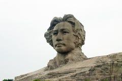 Του Τσάνγκσα πορτοκαλί άγαλμα Mao Zedong νησιών νέο Στοκ Εικόνα