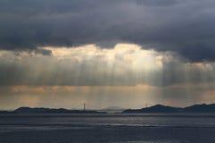 του λυκόφωτος ακτίνες Στοκ φωτογραφίες με δικαίωμα ελεύθερης χρήσης
