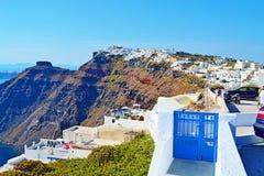 Του χωριού άποψη Santorini Κυκλάδες Ελλάδα Imerovigli Στοκ εικόνες με δικαίωμα ελεύθερης χρήσης