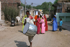 του χωριού γάμος της Ινδί&alph στοκ φωτογραφίες με δικαίωμα ελεύθερης χρήσης