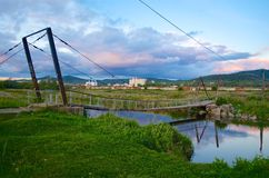 Του χωριού γέφυρα Στοκ Φωτογραφίες
