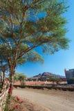 Του χωριού δρόμος, Norh Αφρική, κοντά σε Toubkal, βουνά ατλάντων Στοκ Εικόνες