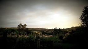 Του χωριού ηλιοβασίλεμα Στοκ εικόνες με δικαίωμα ελεύθερης χρήσης