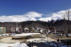 Του χωριού κτήριο της Rosa Khutor, Sochi στοκ εικόνες με δικαίωμα ελεύθερης χρήσης